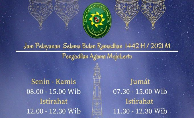 Jam Pelayanan Bulan Ramadhan